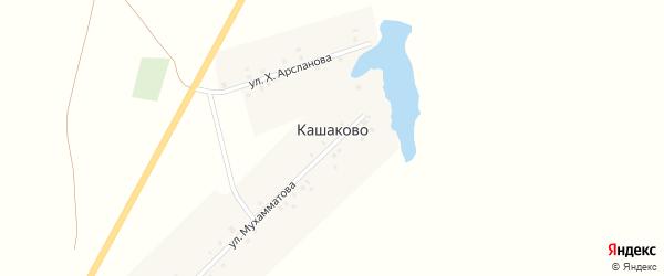 Улица Х.Арсланова на карте деревни Кашаково с номерами домов