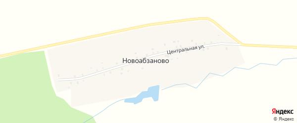 Центральная улица на карте деревни Новоабзаново с номерами домов