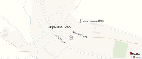 Улица Исламова на карте села Сыйрышбашево с номерами домов