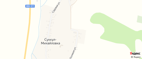 Полевая улица на карте деревни Суккула-Михайловки с номерами домов