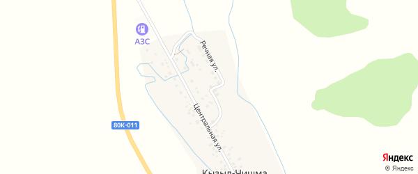 Речная улица на карте деревни Кызыла-Чишма с номерами домов