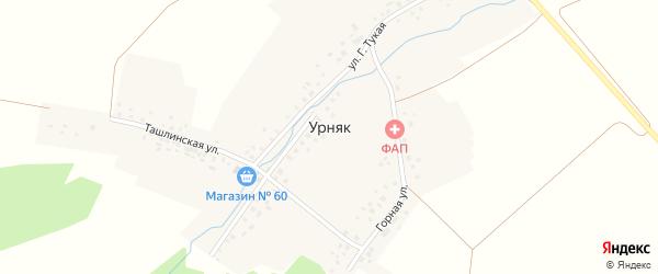 Г.Тукая улица на карте села Урняка с номерами домов