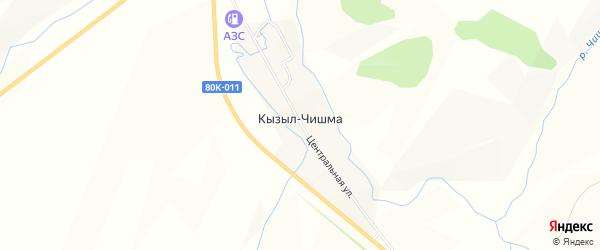 Карта деревни Кызыла-Чишма в Башкортостане с улицами и номерами домов