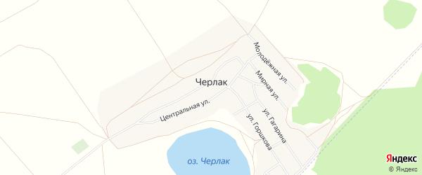 Карта села Черлака в Башкортостане с улицами и номерами домов