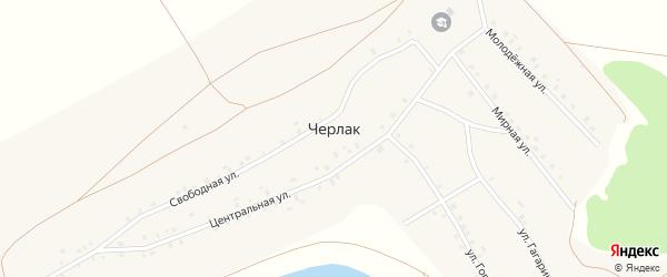Улица Гагарина на карте села Черлака с номерами домов