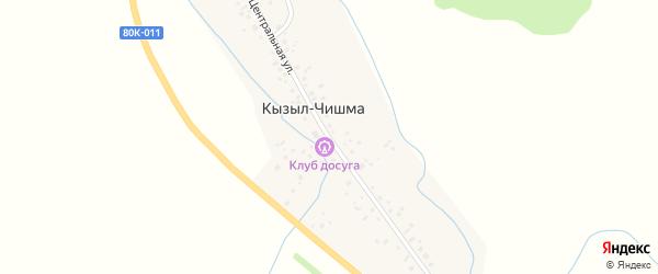Центральная улица на карте деревни Кызыла-Чишма с номерами домов