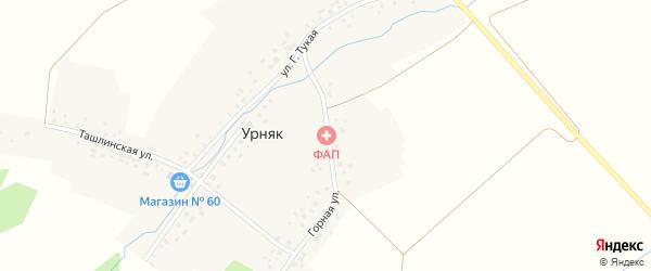 Горная улица на карте села Урняка с номерами домов