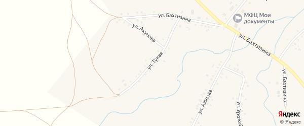Тукая улица на карте села Урняка с номерами домов
