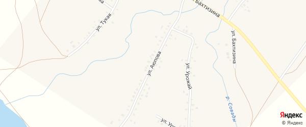 Улица Аюпова на карте села Урняка с номерами домов