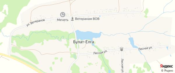 Лесная улица на карте деревни Булата-Елги с номерами домов