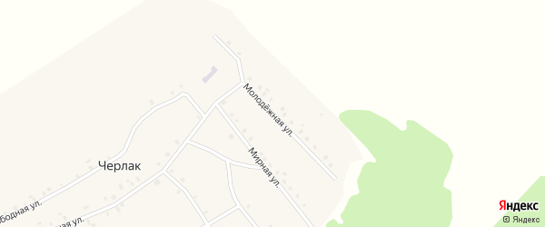 Молодежная улица на карте села Черлака с номерами домов
