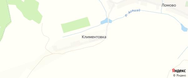 Карта деревни Климентовки в Башкортостане с улицами и номерами домов