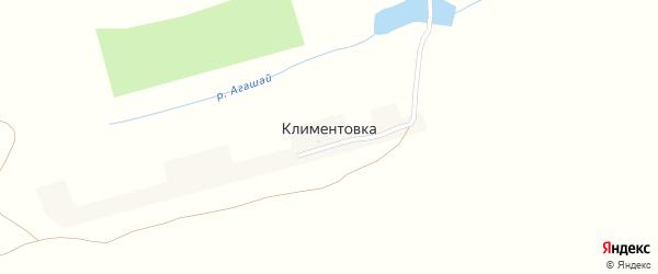 Лесная улица на карте деревни Климентовки с номерами домов