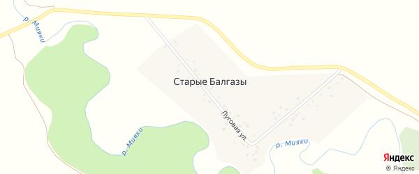 Луговая улица на карте деревни Старые Балгазы с номерами домов