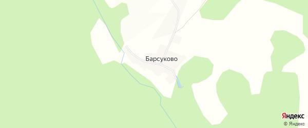 Карта деревни Барсуково в Башкортостане с улицами и номерами домов
