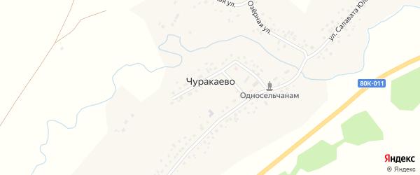 Речная улица на карте села Чуракаево с номерами домов