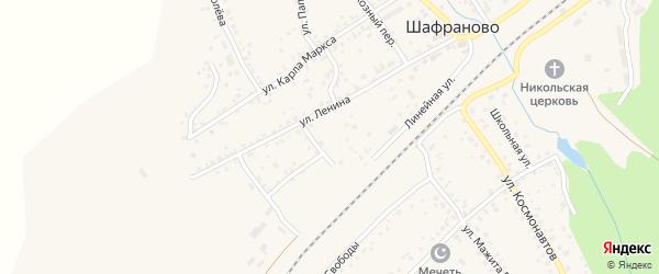 Территория Учхоза на карте села Шафраново с номерами домов