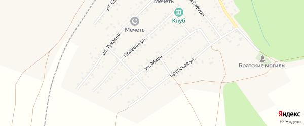 Улица Мира на карте села Шафраново с номерами домов
