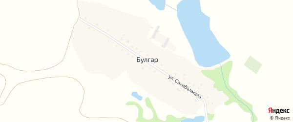 Улица Сахибъямала на карте деревни Булгара с номерами домов
