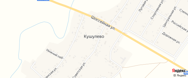 Речная улица на карте села Кушулево с номерами домов