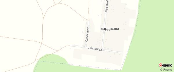 Садовая улица на карте села Бардаслы с номерами домов