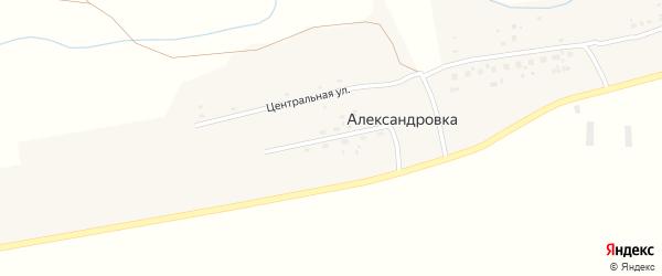 Крестьянская улица на карте деревни Александровки с номерами домов