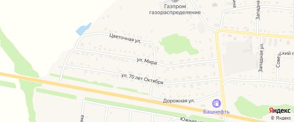 Улица Мира на карте села Калтасов с номерами домов