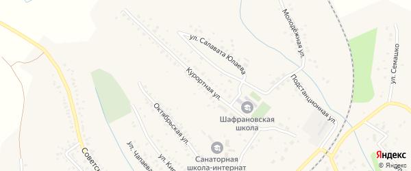 Курортная улица на карте села Шафраново с номерами домов