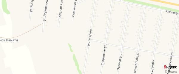 Улица Гагарина на карте села Калтасов с номерами домов