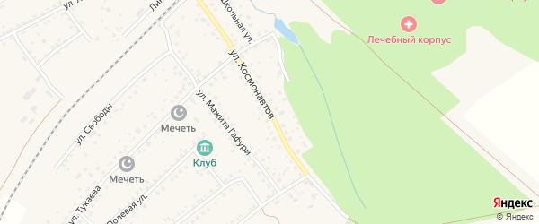 Улица Космонавтов на карте села Шафраново с номерами домов
