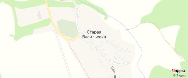 Луговая улица на карте села Старой Васильевки с номерами домов