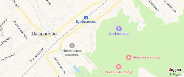 Территория 1 отделение санатория на карте села Шафраново с номерами домов
