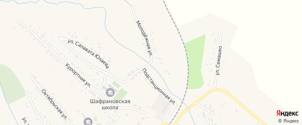 Молодежная улица на карте села Шафраново с номерами домов