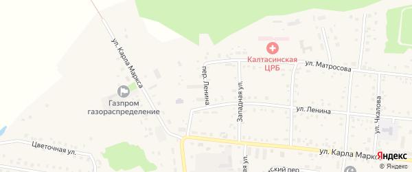 Переулок Ленина на карте села Калтасов с номерами домов