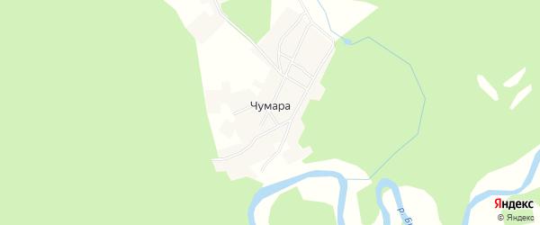 Карта деревни Чумары в Башкортостане с улицами и номерами домов