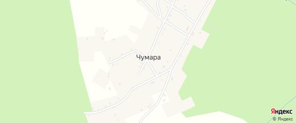 Центральный переулок на карте деревни Чумары с номерами домов