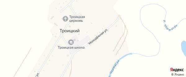 Молодежная улица на карте села Троицкого с номерами домов