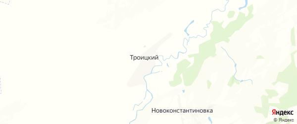 Карта Троицкого сельсовета республики Башкортостан с районами, улицами и номерами домов
