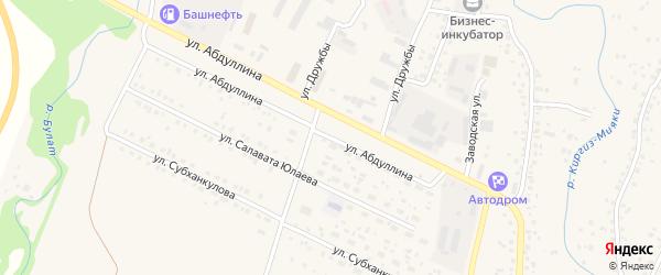 Улица Абдуллина на карте села Киргиза-Мияки с номерами домов
