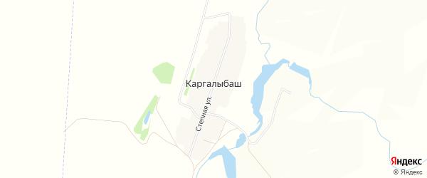 Карта деревни Каргалыбаша в Башкортостане с улицами и номерами домов
