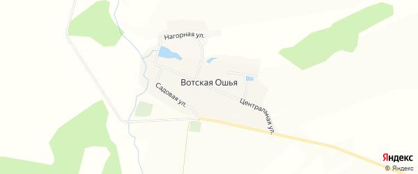 Карта села Вотской Ошья в Башкортостане с улицами и номерами домов