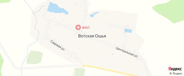 Садовая улица на карте села Вотской Ошья с номерами домов