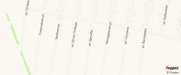 Улица Дружбы на карте села Калтасов с номерами домов