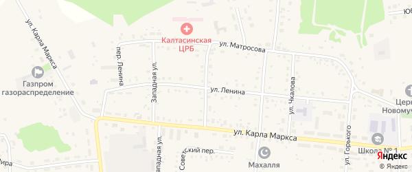 Уральская улица на карте села Калтасов с номерами домов