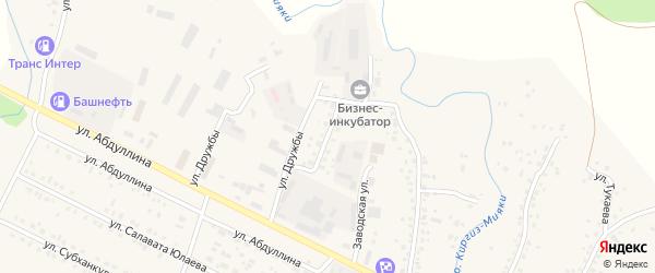 Заводская улица на карте села Киргиза-Мияки с номерами домов