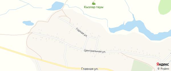 Горная улица на карте села Староабзаново с номерами домов