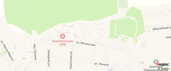 Переулок Матросова на карте села Калтасов с номерами домов