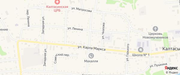 Улица Черняховского на карте села Калтасов с номерами домов