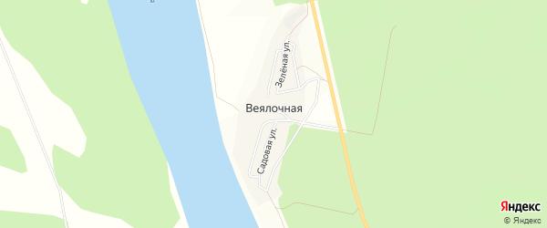 Карта Веялочной деревни в Башкортостане с улицами и номерами домов