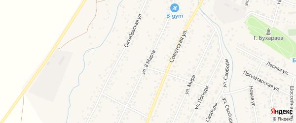 Улица 8 Марта на карте села Киргиза-Мияки с номерами домов